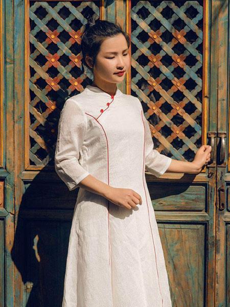 迂墨女装品牌2019春季新款旗袍民国风复古中式改良旗袍连衣裙