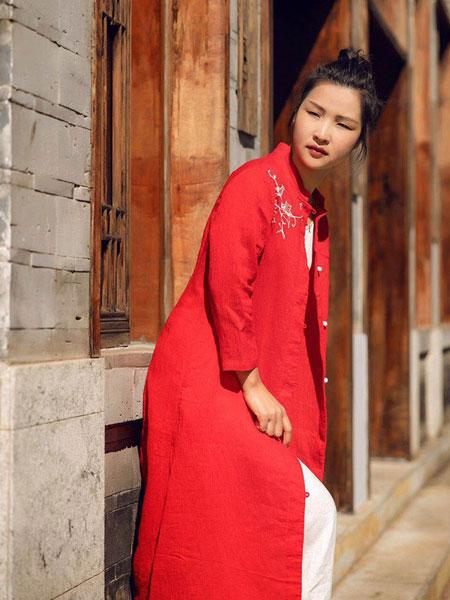 迂墨女装品牌2019春季新款文艺范长款外搭长袖衬衫开衫