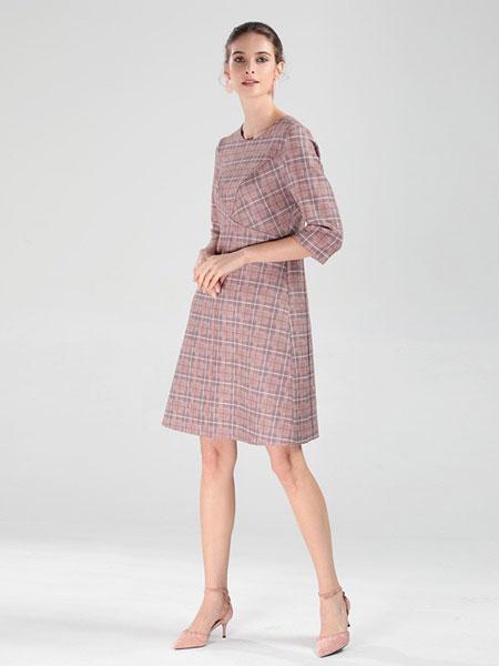 圣可尼女装品牌2019春夏新款仙女裙中长复古法式裙子