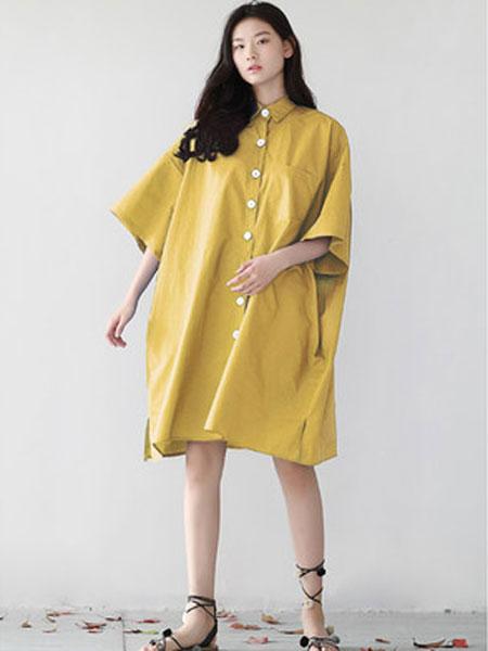 蔻贝卡女装品牌2019春季新款宽松中长款韩版大码上衣
