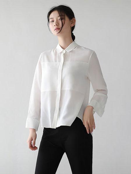 蔻贝卡女装品牌2019春季新款拼接衬衫韩版宽松长袖衬衣上衣潮