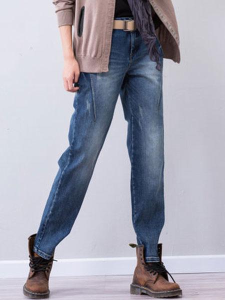 予含女装品牌2019春夏新款原创宽松百搭长裤子显瘦大码胖MM