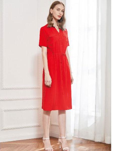 丝珂/奥克女装品牌2019春夏新款韩版洋气时尚显瘦衬衣裙
