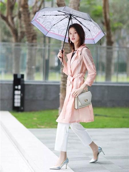 卡迪黛尔女装品牌2019春夏新款中长款防晒衣风衣外套