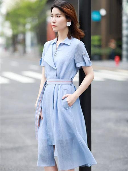 卡迪黛尔女装品牌2019春夏新款潮韩版气质显瘦中长裙