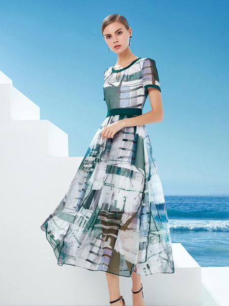 DU迪如女装品牌2019春夏新款中长款修身显瘦潮流裙子