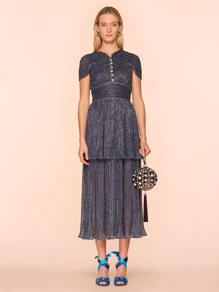 彼得·皮洛托女装品牌2019春夏新款韩版高腰中长款连衣裙