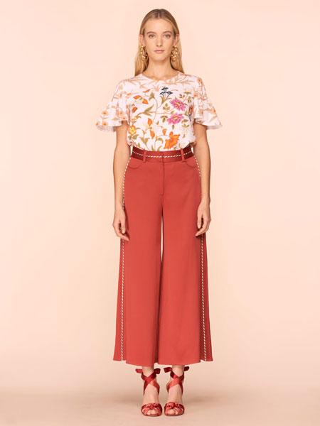 彼得·皮洛托女装品牌2019春夏新款印花圆领上衣