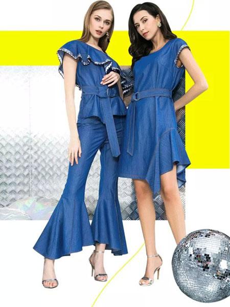 卓姿·乔雅女装品牌2019春夏新款时尚修身显瘦连衣裙