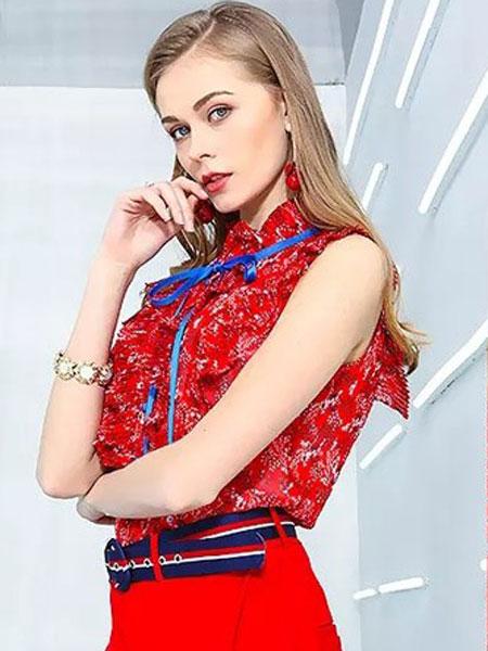 卓姿·乔雅女装品牌2019春夏新款时尚气质无袖上衣