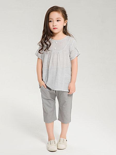 dishion的纯童装品牌2019春夏简约时尚纯棉T恤女童百搭韩版短袖上衣