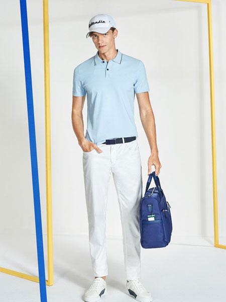 卡尔丹顿男装品牌2019春夏新款商务休闲短袖T恤