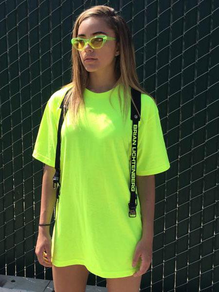 Brian Lichtenberg布莱恩·利希滕贝格休闲品牌2019春夏新款百搭复古港风宽松中长款T恤裙