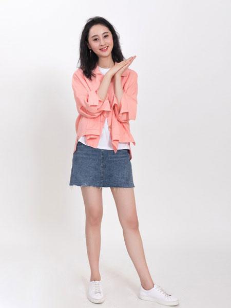 乔恩琳女装品牌2019春夏新款高腰半身裙短裙