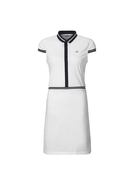 可隆户外户外品牌2019春夏新款短袖修身显瘦连衣裙