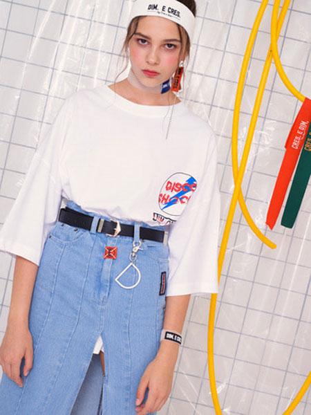 Cres.E Dim女装品牌2019春夏新款修身显瘦百搭韩版T恤