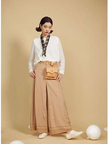 S-Echo女装品牌2019春夏新款高腰宽松直筒休闲阔腿裤