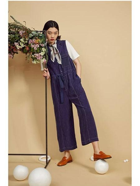 S-Echo女装品牌2019春夏新款韩版牛仔背带裤小脚系带裤宽松显瘦减龄裤子高腰九分