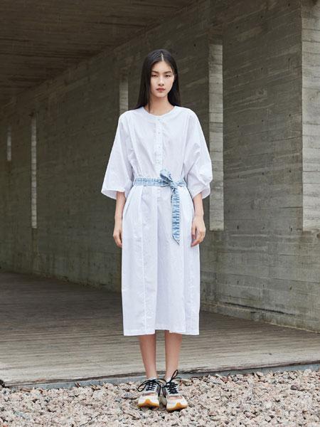 陌上女装品牌2019春夏新款韩版百搭气质连衣裙