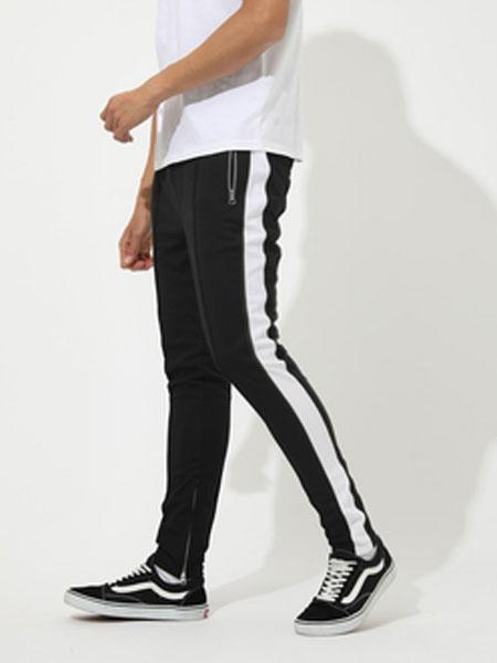 AZUL by Moussy男装品牌2019春夏新款侧条纹运动裤休闲裤