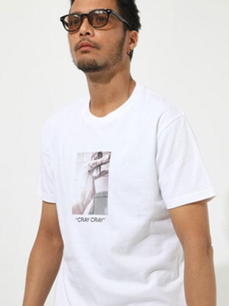 AZUL by Moussy男装品牌2019春夏新款韩版潮流宽松印花时尚休闲百搭T恤