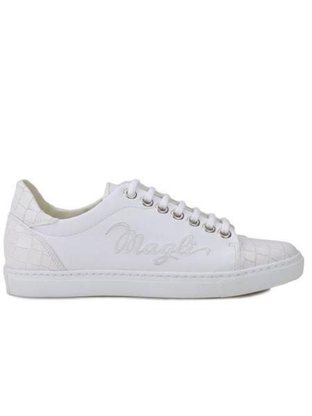 BRUNO MAGLI布鲁玛妮鞋帽/领带品牌2019春夏韩版潮流系带休闲鞋