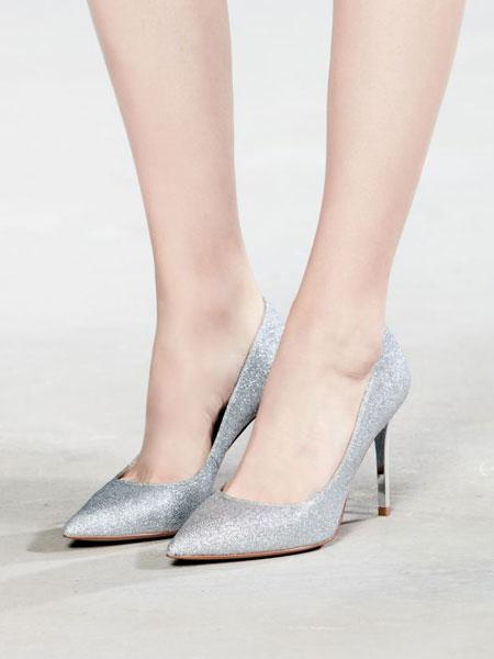AS(Accento Squisito)鞋帽/领带品牌2019春夏新款时尚高跟鞋细跟中跟单鞋