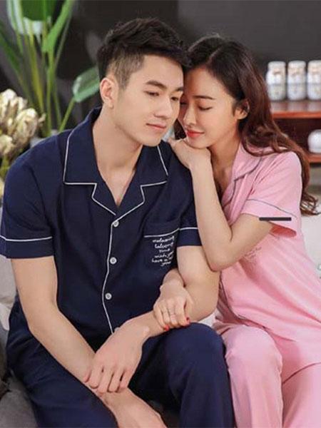 紫色花语内衣品牌2019春夏新款短袖韩版全棉可外穿服两件套装