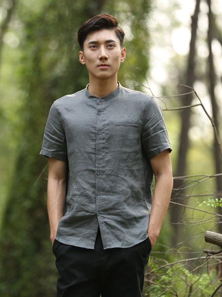 农茶男装品牌2019春夏新款韩版复古休闲圆领短袖T恤