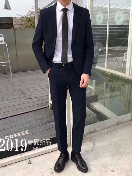 耀出色UONTHS休闲品牌2019春夏新款修身韩版休闲小西服套装