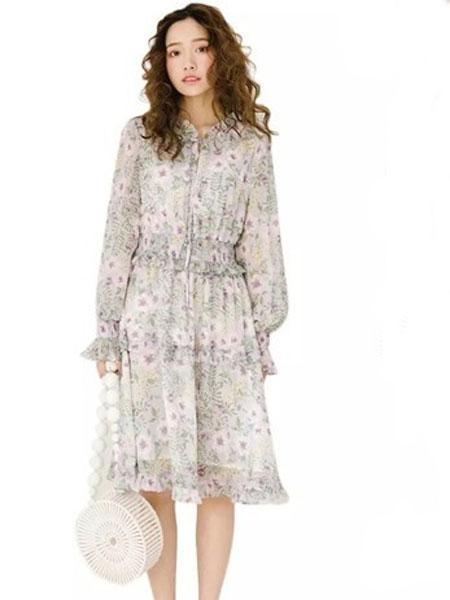 MISSLI女装品牌2019春夏新款港味复古chic裙气质宽松温柔仙女裙