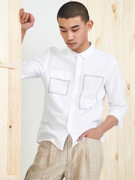 玖尺男装品牌2019春夏新款复古时尚衬衫上衣