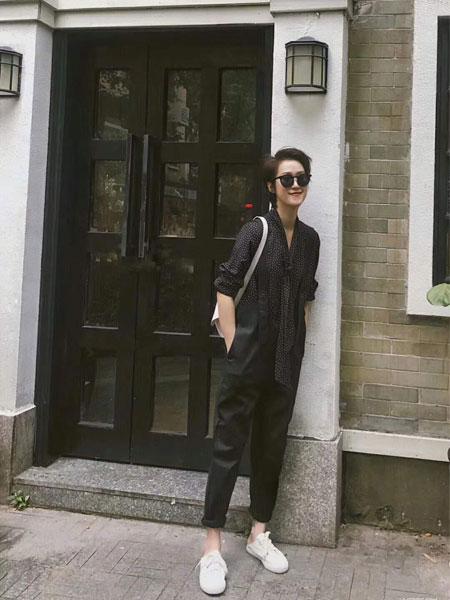 奕色女装品牌2019春夏新款宽松韩版显瘦直筒裤