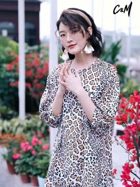 CM女装品牌2019春夏新款时尚女装气质修身短裙子