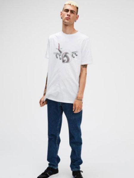 Soulland男装品牌2019春夏新款时尚印花圆领休闲短袖T恤