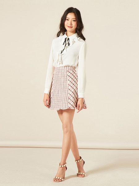 罗燕Roem女装品牌2019春夏新款时尚气质领口系带设计心机白色上衣淑女衬衫