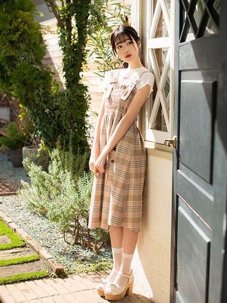 Dazzlin女装品牌2019春夏新款百搭背带式连衣裙