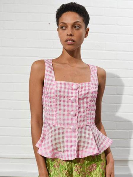 ISA ARFEN女装品牌2019春夏新款复古百搭无袖上衣