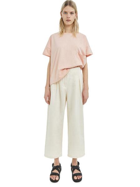Bimba Y Lola女装品牌2019春夏新款白色宽松阔腿裤休闲九分裤