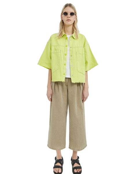 Bimba Y Lola女装品牌2019春夏新款 百搭简约阔腿裤