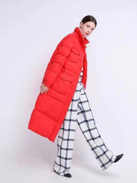 欧裳羽女装品牌新款中长款韩版显瘦羽绒服外套