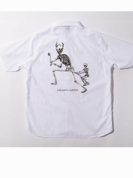 Bounty-Hunter休闲品牌2019春夏新款时尚宽松圆领印花短袖T恤
