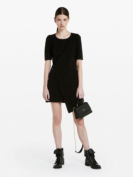 柏翠莎·佩佩女装品牌2019春夏新款优雅气质名媛显瘦OL裙子黑色收腰职业连衣裙
