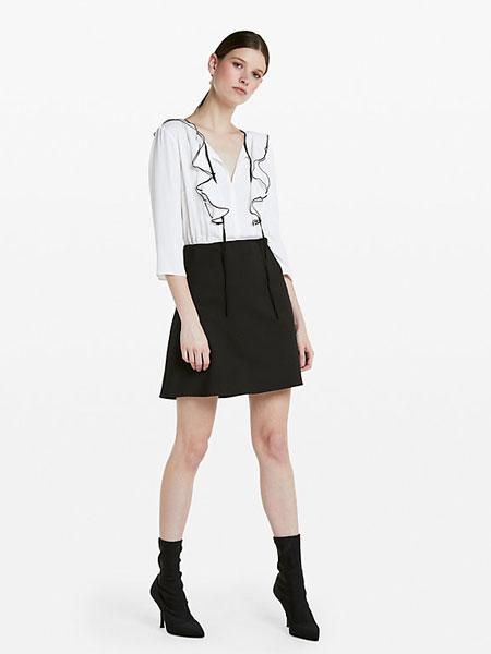 柏翠莎·佩佩女装品牌2019春夏新款V领文艺波点显瘦连衣裙