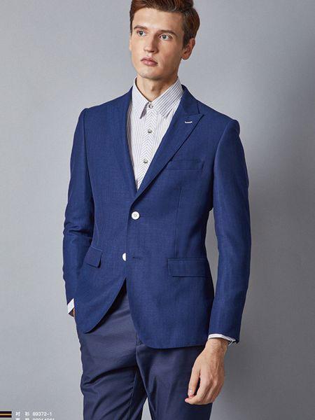 埃沃男装品牌2019春夏新款时尚韩版修身简约西装外套