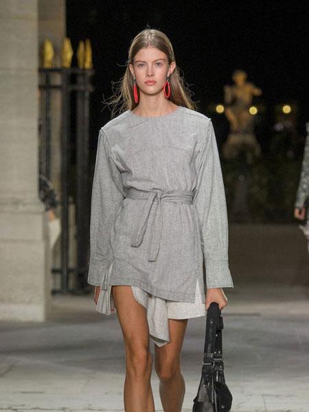 伊萨贝尔 马朗特女装品牌新款时尚收腰连衣裙