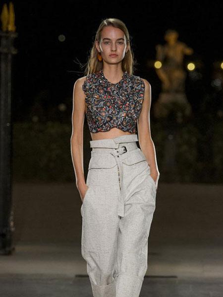 伊萨贝尔 马朗特女装品牌新款时尚收腰显瘦长袖上衣