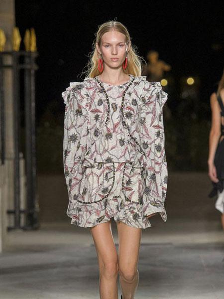 伊萨贝尔 马朗特女装品牌新款时尚宽松印花连衣裙