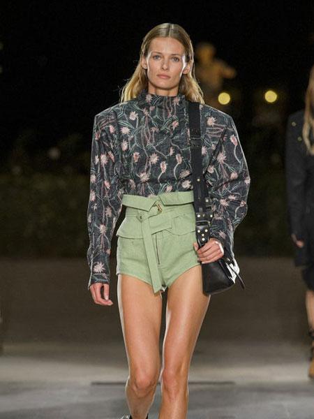 伊萨贝尔 马朗特女装品牌新款时尚高腰显瘦短款