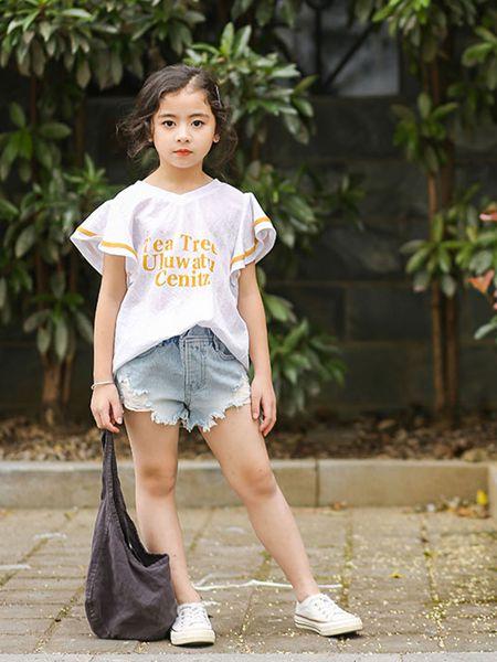 城秀童装品牌2019春夏新款韩版洋气时髦中大童两件套短裙